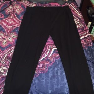 Black joggers w/ mesh on legs & zippers at ankles